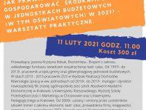 Szkolenie – Jak prawidłowo gospodarować środkami Zakładowego Funduszu Świadczeń Socjalnych w jednostkach budżetowych, (w tym oświatowych) w 2021r. – praktyczne warsztaty -5h