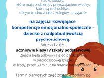 Zajęcia rozwijające kompetencje emocjonalno – społeczne